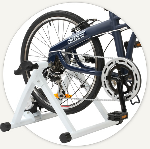 folding bike indoor trainer