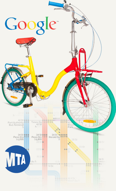 Citizen Bike custom folding bicycles for Google and the New York City subway