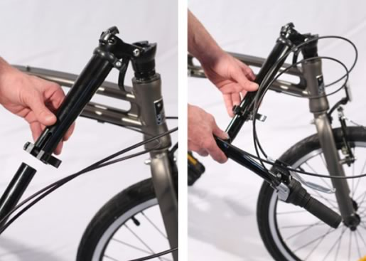 Connecting the handlebar extension