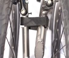 folding bicycle binding straps for securing wheels