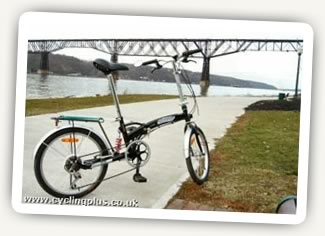 My Citizen Bike foldup, with the 1888 Poughkeepsie RR Bridge.