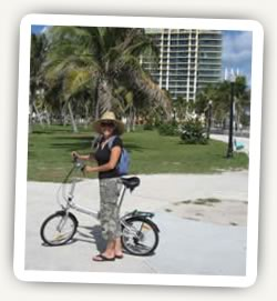 Citizen Bike alloy folder in South Beach, Florida