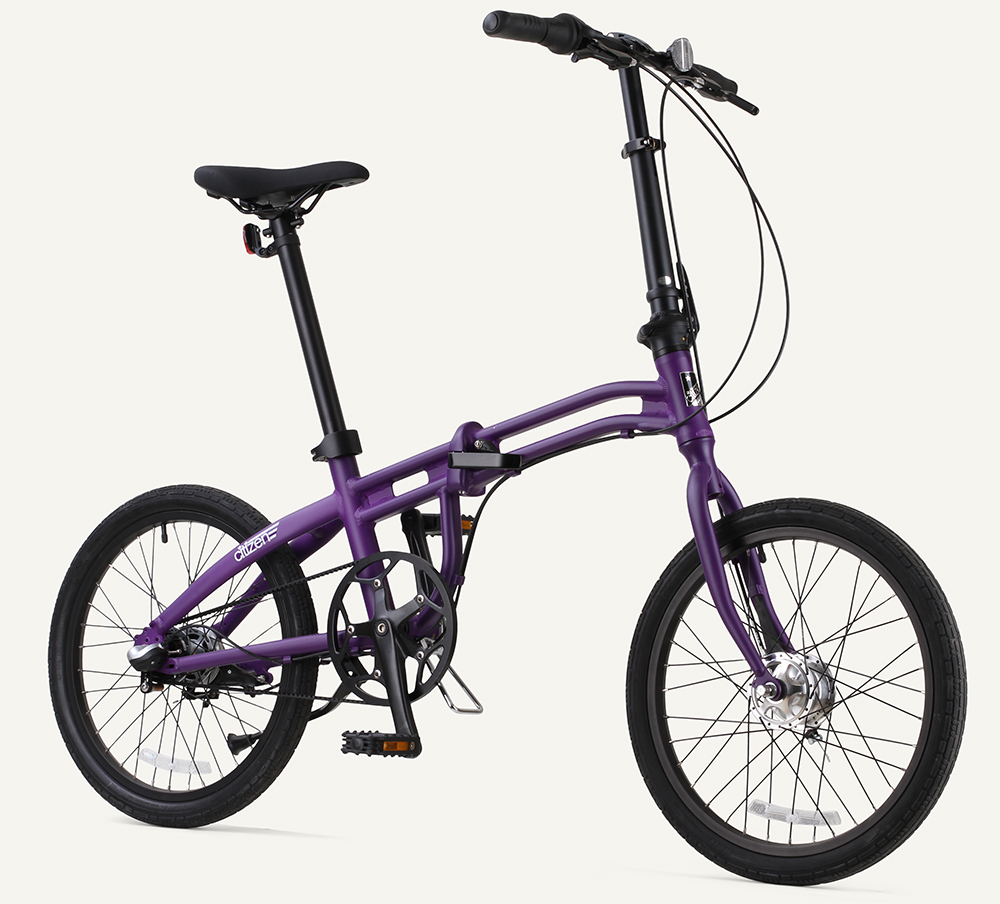 "GOTHAM 3 Citizen Bike 20"" 3-Speed Folding Bike with Belt Drive"