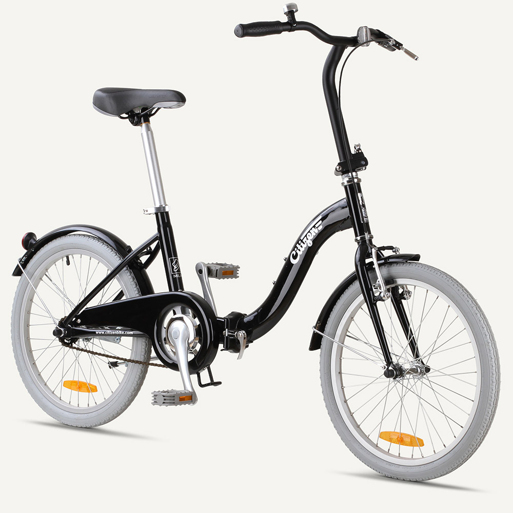 "MILAN Citizen Bike 20"" 1-speed Folding Bike with Step-thru Frame"